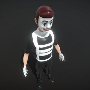 3D mime pantomime