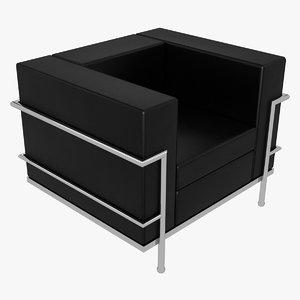 le corbusier chair lc2 3D model