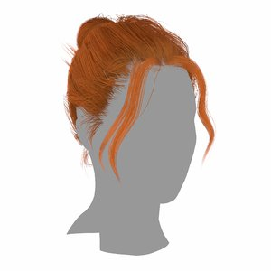 3D hairstyle layered hair loose model