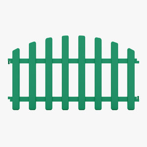3D decorative fence model