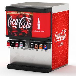 8-flavor ice beverage soda 3D model