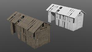 old modular shed 3D model