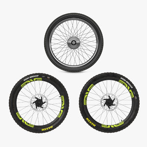 bicycle wheels 2 cycle 3D model