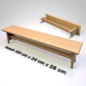 bench furniture 3D model