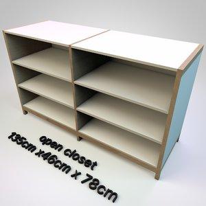 3D model cabinet closet office