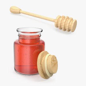 3D model jar honey dipper