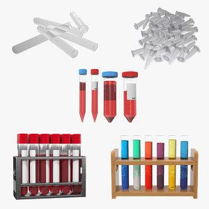 laboratory test tubes 2 model