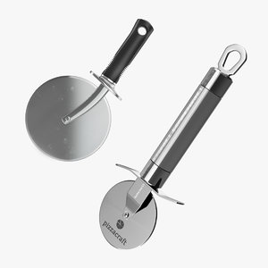 3D rolling pizza cutters