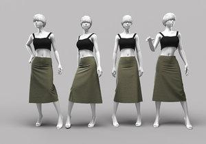 woman mannequin 12 3D