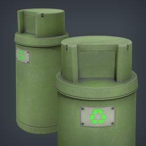 3D trash bin