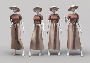 3D woman mannequin 11 model