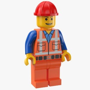 3D real lego man