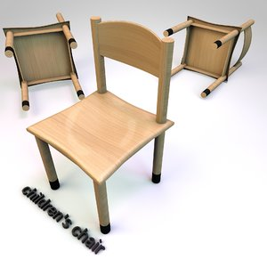 chair seat children 3D model