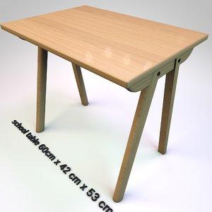 table school 3D model