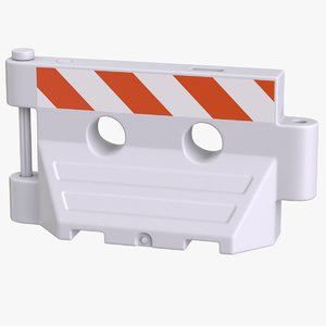 plastic barrier white new model
