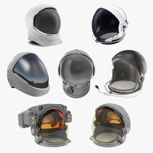 space helmets 2 3D model
