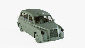 3D london taxi company model