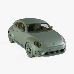 3D model volkswagen beetle