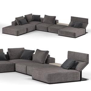 3D poliform westside sofa