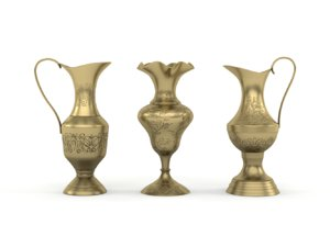 antique golden vase 3D