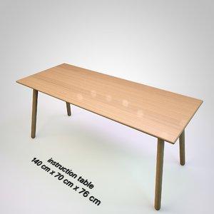 3D table furniture model