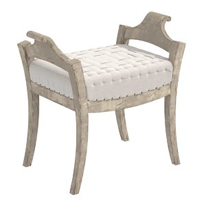 bench 19th century swedish 3D model