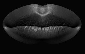 3D realistic lips female model