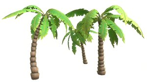 cartoon palm tree model