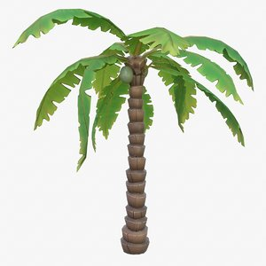 3D cartoon palm tree