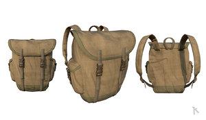 vintage military backpack model