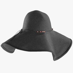 3D realistic women s hat