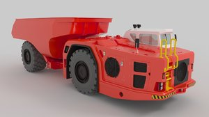 3D model construction underground mining heavy truck