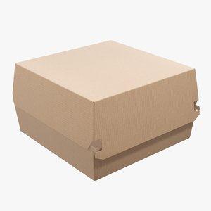 box food corrugated model