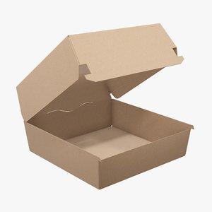 box food corrugated 3D model
