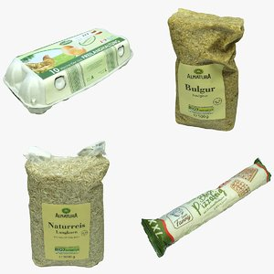 3D model food packaging