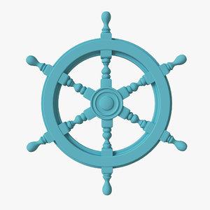 3D wheel ship steering