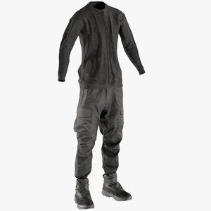 3D model realistic men s pants
