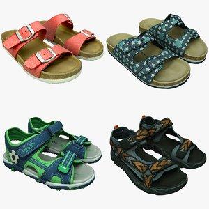 shoe sandals 11 3D model