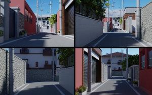 street anime tree model