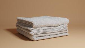 3D folded towels