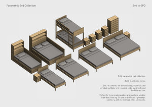 parametric bed 3D