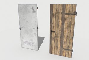 3D model basement doors