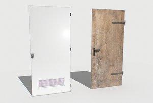 2 basement doors 3D model