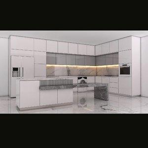 3D cabinet kitchen modern model