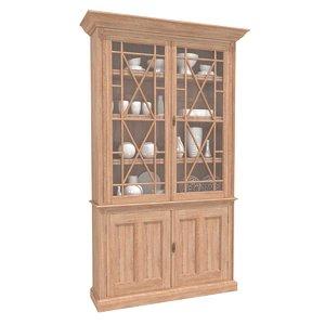 cabinet lorfords antiques oak 3D model