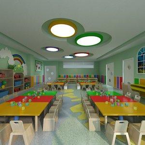 interior scene kindergarden classroom model