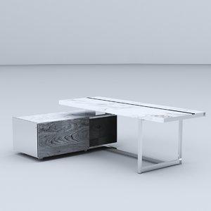 3D minimal office desk