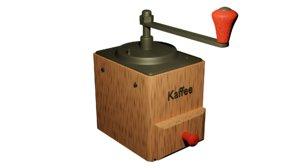3D retro coffee grinder model