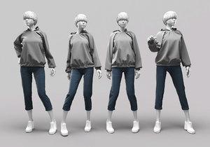 3D woman mannequin 13 model