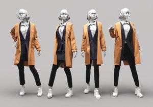 woman mannequin 14 3D model